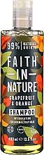 Kup Szampon do włosów normalnych i przetłuszczających się Grejpfrut i pomarańcza - Faith In Nature Grapefruit & Orange Shampoo