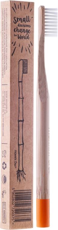 Bambusowa szczoteczka do zębów, miękka, pomarańczowa - Mohani Toothbrush