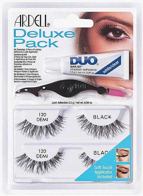 Zestaw sztucznych rzęs - Ardell Deluxe Pack 120 Demi Black