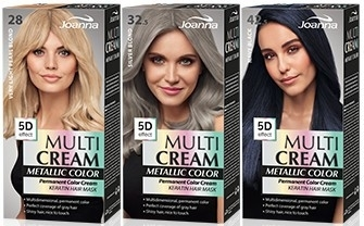 Farba do włosów - Joanna Multi Cream Color Metallic