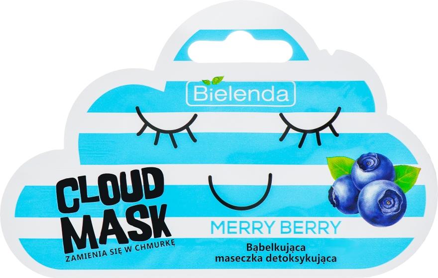 Bąbelkująca maseczka detoksykująca do twarzy Merry Berry - Bielenda Cloud Mask