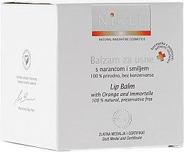 Kup 100% naturalny balsam do ust z pomarańczą i kwiatem nieśmiertelnika - Nikel Lip Balm With Orange And Immortelle