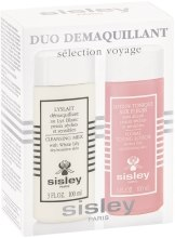 Kup Zestaw - Sisley Travel Duo Cleansing Kit (milk 100 ml + lot 100 ml)