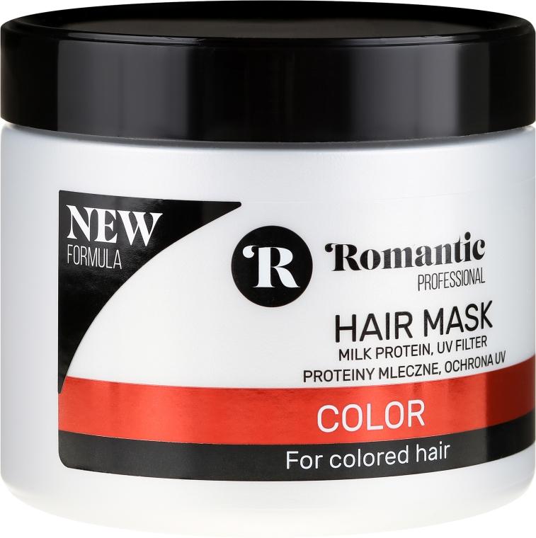 Maska do włosów farbowanych z proteinami mlecznymi i ochroną UV - Romantic Professional Color Hair Mask