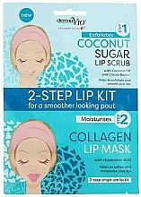 Kup Maseczka peelingująca do ust z cukrem kokosowym - Derma V10 2 Step Lip Treatment Kit Coconut