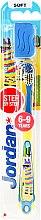 Kup Miękka szczoteczka do zębów dla dzieci 6-9 lat, żółto-niebieska z lamą - Jordan