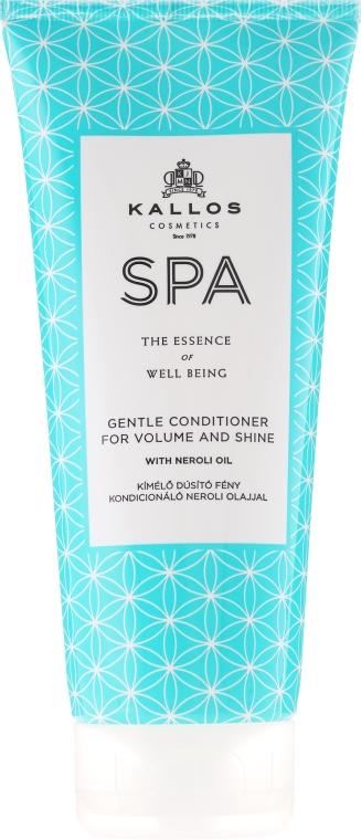 Delikatna odżywka nabłyszczająca dodająca włosom objętości - Kallos Cosmetics Spa Gentle Conditioner For Volume And Shine — фото N1