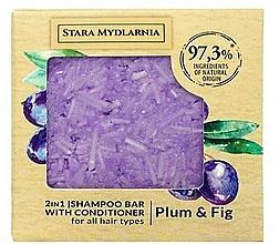Kup Twardy szampon i odżywka do włosów 2 w 1, śliwka i figa - Stara Mydlarnia Plum & Fig 2in1 Shampoo Bar