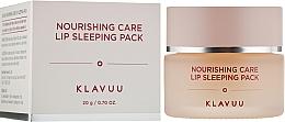 Kup Odżywcza maska na noc do ust - Klavuu Nourishing Care Lip Sleeping Pack