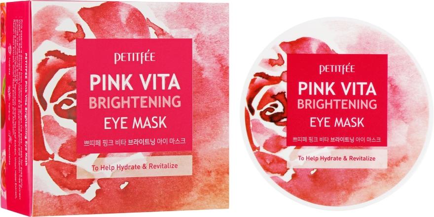 Rozświetlające płatki pod oczy - Petitfee&Koelf Pink Vita Brightening Eye Mask
