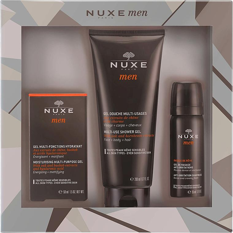 Zestaw - Nuxe Men Hydration Set (shav/gel 35 ml + sh/gel 200 ml + gel 50 ml) — фото N1