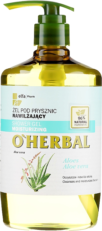 Nawilżający żel pod prysznic z ekstraktem z aloesu - O'Herbal Moisturizing Shower Gel
