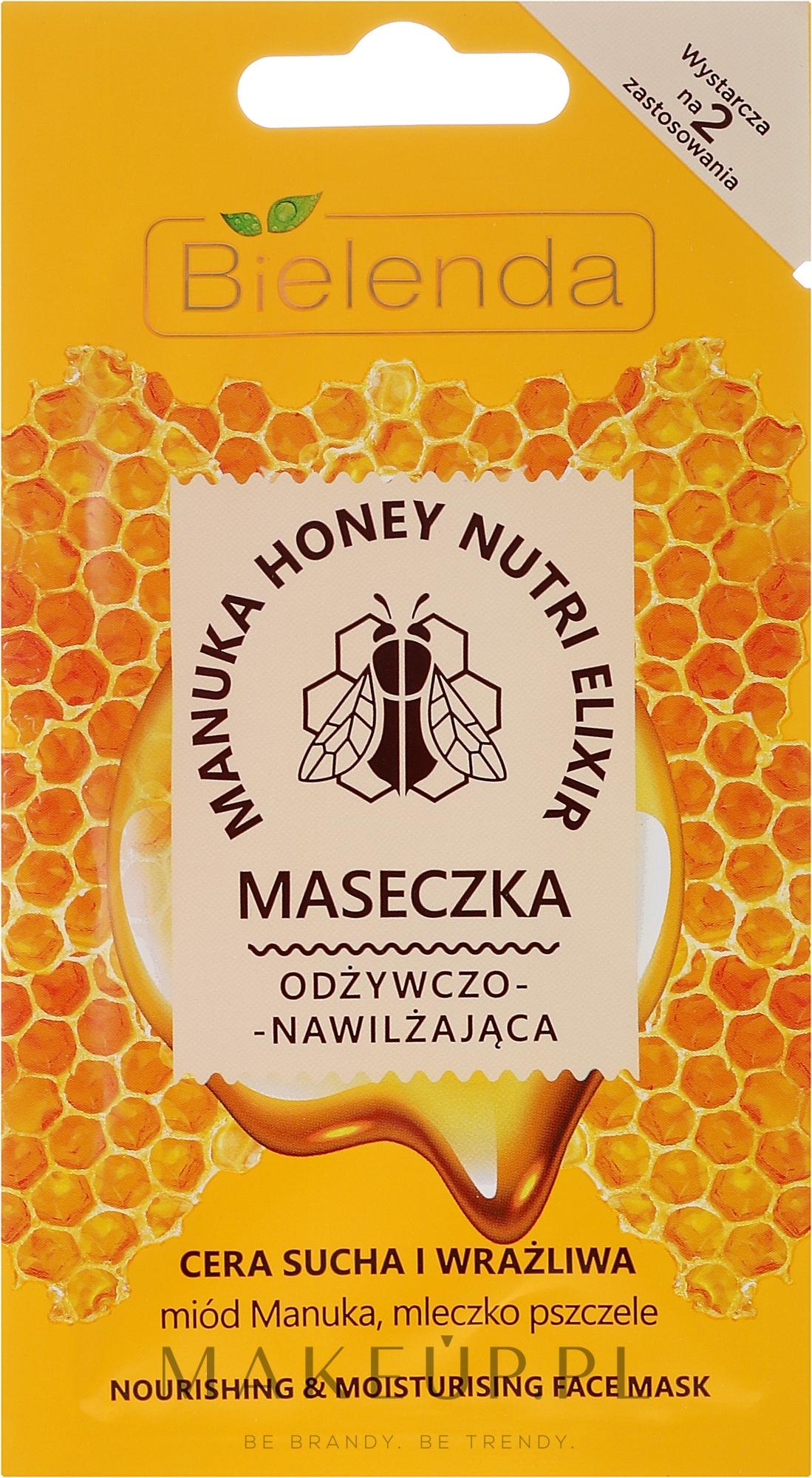 Odżywczo-nawilżająca maseczka do twarzy Miód Manuka i mleczko pszczele - Bielenda Manuka Honey Nutri Elixir Mask — фото 8 g