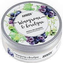 Kup Maska do włosów średnioporowatych Winogrona i keratyna - Anwen