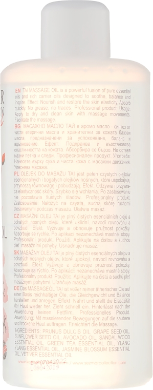 Olejek do masażu Tai - Sezmar Collection Professional Tai Aromatherapy Massage Oil — фото N2