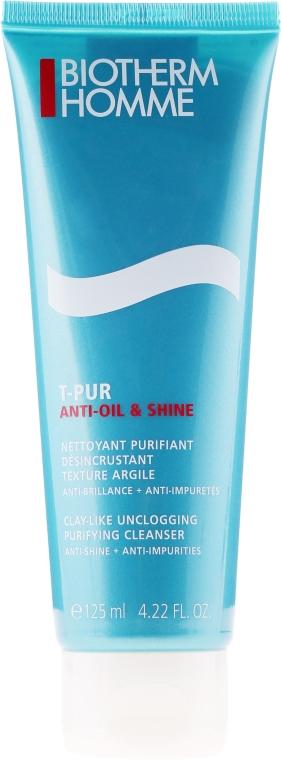 Oczyszczający żel do mycia twarzy - Biotherm Homme T-Pur Anti Oil & Wet — фото N1