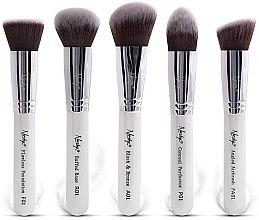 Kup Zestaw pędzli do makijażu - Nanshy Face Brush Set White (brush x 5)