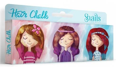 Zmywalne kolorowe kredy do włosów dla dzieci - Snails Hair Chalk — фото N1