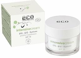 Kup Intensywny krem do twarzy z kwasem hialuronowym SPF 15 - Eco Cosmetics Intensive Cream With OPC Q10 & Hyaluron SPF15