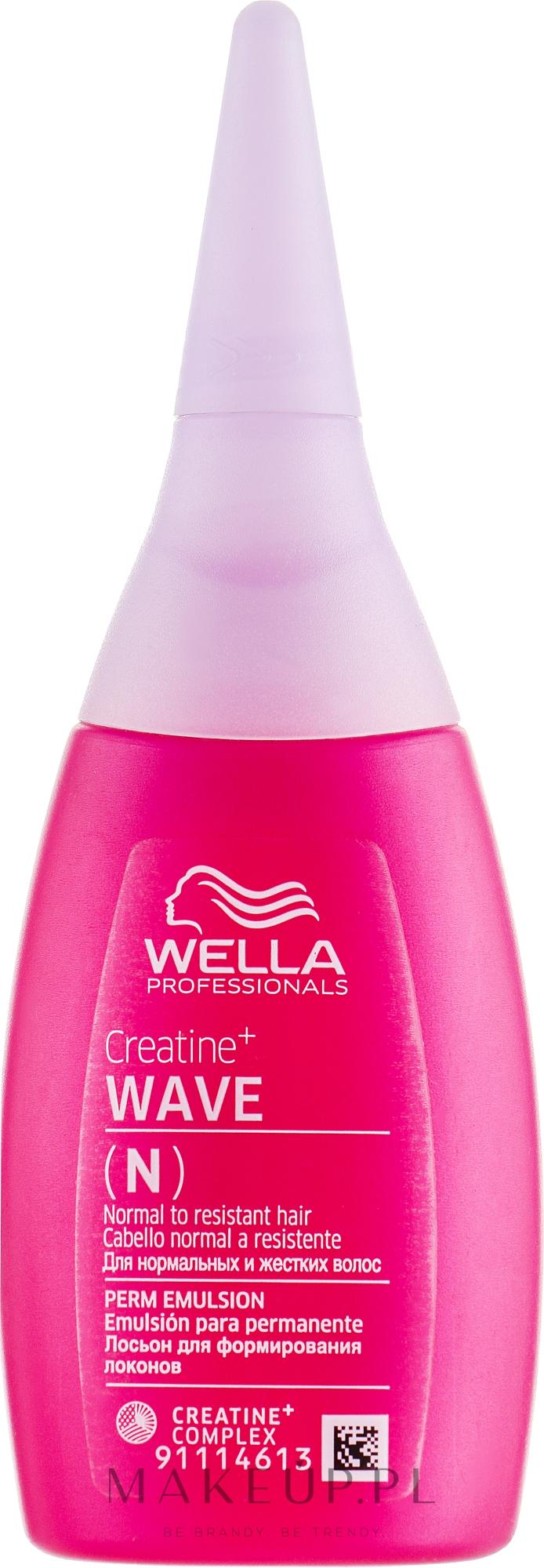 Płyn do trwałej ondulacji do włosów normalnych i opornych na skręt - Wella Professionals Creatine+ Wave N Perm Emulsion — фото 75 ml