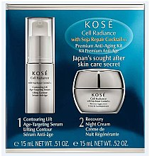 Zestaw - KOSÉ Soja Repair Cocktail Cell Radiance Premium Anti-Aging Kit (serum 15 ml + cr 15 ml) — фото N1