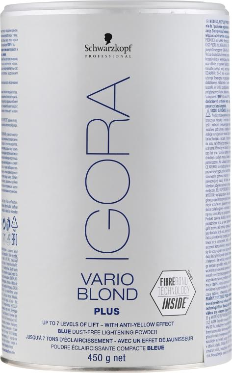 Bezpyłowy puder rozświetlający - Schwarzkopf Professional Igora Vario Blond Plus