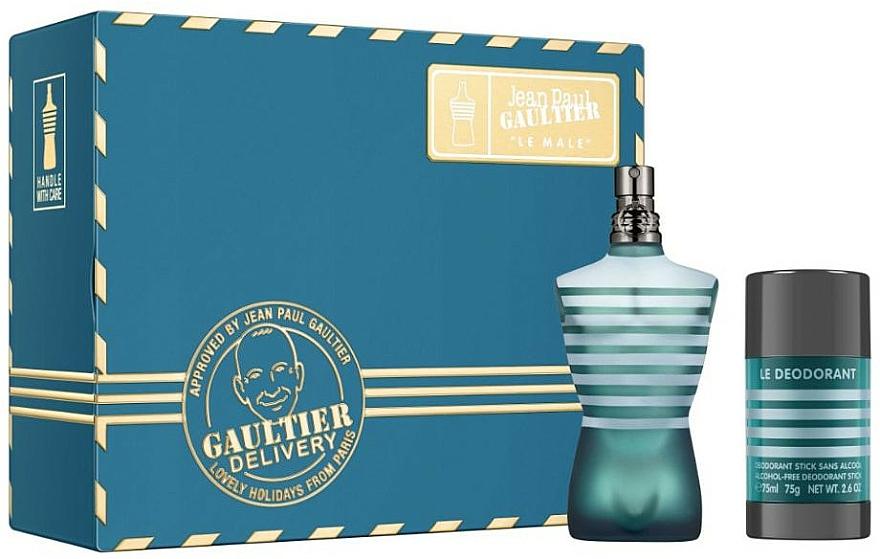 Jean Paul Gaultier Le Male - Zestaw (edt 75 ml + deo/stick 75 ml) — фото N1