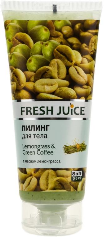 Peeling do ciała Trawa cytrynowa i zielona kawa - Fresh Juice Lemongrass & Green Coffee