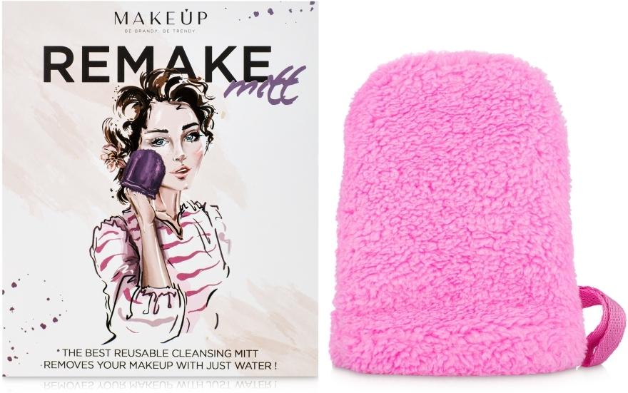 Różowa rękawiczka do demakijażu ReMake (15 x 12 cm) - Makeup