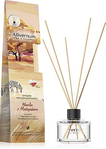 Dyfuzor zapachowy Wanilia z Madagaskaru z patyczkami - Allvernum Home&Essences Diffuser