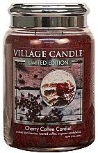 Świeca zapachowa w słoiku - Village Candle Cherry Coffee Cordial Glass Jar — фото N2