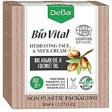 Kup PRZECENA! Nawilżający krem do twarzy i szyi Olej arganowy i kokosowy 35+ - DeBa Bio Vital Hydrating Face and Neck Cream *