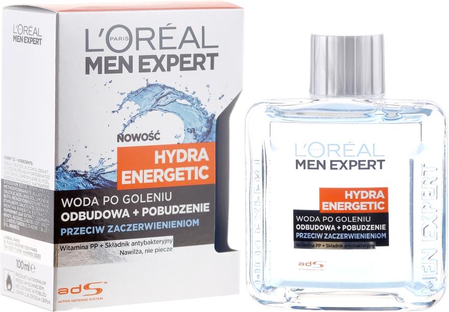 Woda po goleniu przeciw zaczerwienieniom Odbudowa + pobudzenie Hydra Energetic - L'Oreal Paris Men Expert