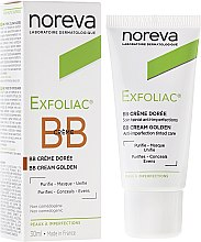 Kup Korygujący krem BB do twarzy przeciwko przebarwieniom do ciemnej cery - Noreva Laboratoires Exfoliac BB Cream Anti-imperfection Tinted Care
