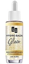 Kup Rozświetlająca baza utrwalająca makijaż - AA Make Up Hydro Baza Glow 24k złoto