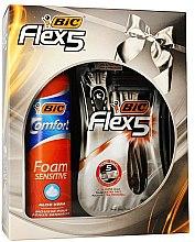 Kup Zestaw - Bic Flex 5 Comfort (razor/3pcs + foam/200ml)