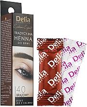Kup Tradycyjna henna do brwi (brązowa) - Delia Henna Eyebrow Tint