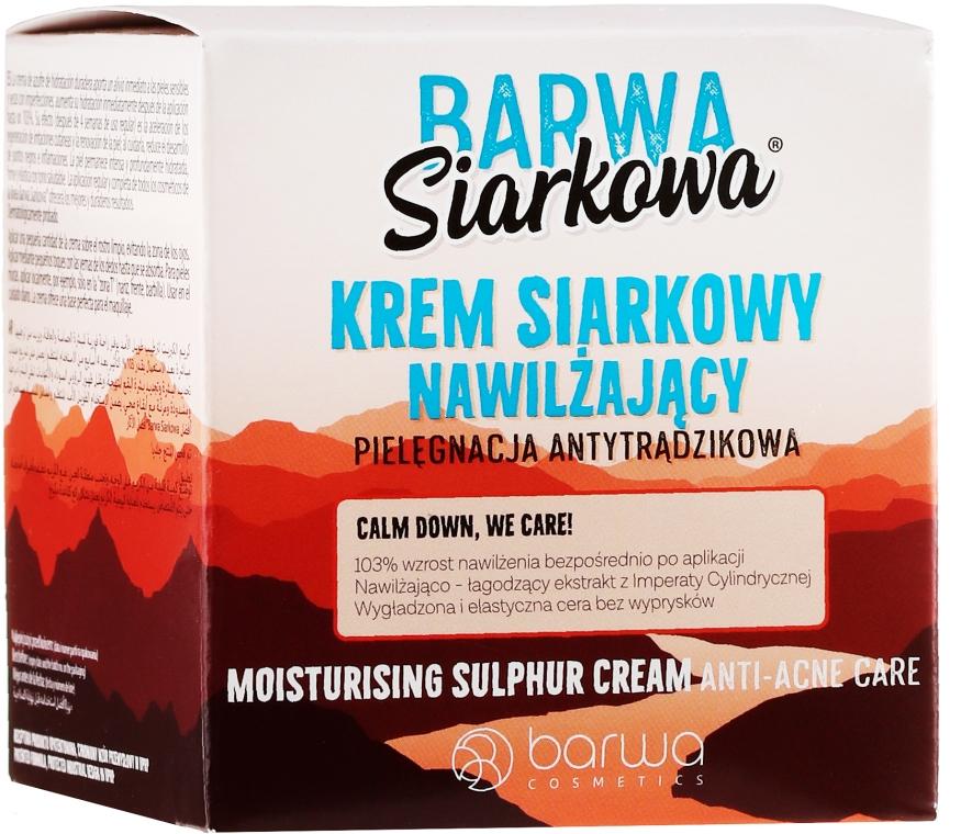 Nawilżający krem siarkowy do twarzy - Barwa Siarkowa — фото N1