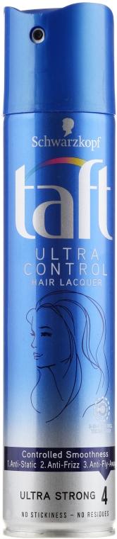 Ekstramocny lakier do włosów - Schwarzkopf Taft Ultra Control Hairspray — фото N1