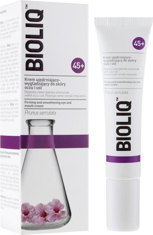 Krem ujędrniająco-wygładzający do skóry oczu i ust - Bioliq 45+ Firming And Smoothening Eye And Mouth Cream