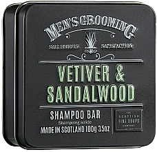 Kup Szampon w kostce dla mężczyzn Wetyweria i drzewo sandałowe - Scottish Fine Soaps Mens Grooming Vetiver & Sandalwood Shampoo Bar