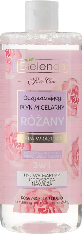 PREZENT! Różany oczyszczający płyn micelarny do cery wrażliwej - Bielenda Rose Care Micellar Water For Sensitive Skin — фото N1