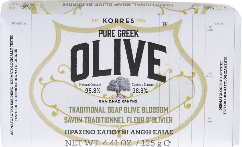 Mydło w kostce z oliwy z oliwek - Korres Pure Greek Olive Green Soap Olive Blossom — фото N1