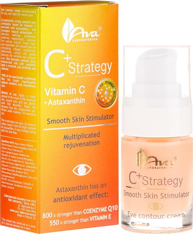 Krem na okolice oczu z witaminą C - Ava Laboratorium C+ Strategy Smooth Skin Stimulator Eye Contour Cream