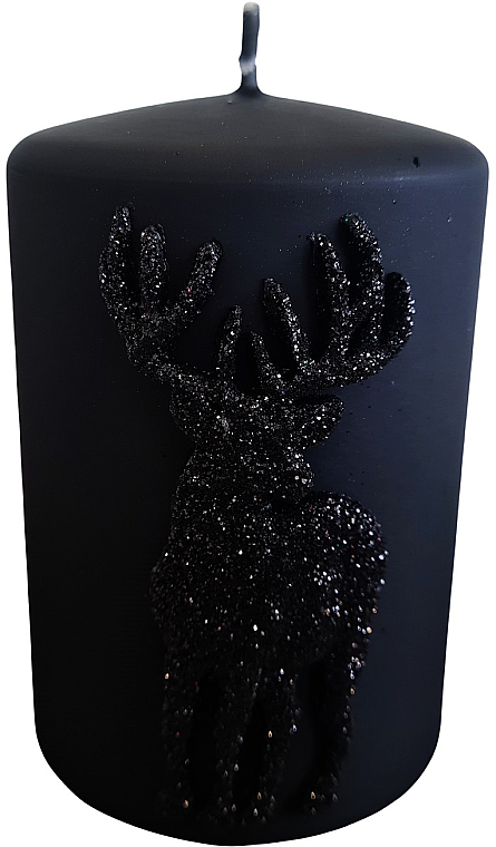 Świeca dekoracyjna, czarna 7 x 10 cm - Artman Jelen Application (Deep Application) — фото N1