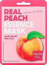 Kup Maseczka w płachcie z ekstraktem z brzoskwini - FarmStay Real Peach Essence Mask