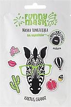 Kup Maska tonizująca na tkaninie z kaktusem i granatem Zebra - Marion Funny Mask
