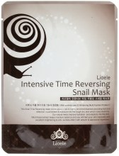 Kup Przeciwstarzeniowa maseczka na tkaninie z ekstraktem ze śluzu ślimaka - Lioele Intensive Time Reversing Snail Mask