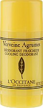 Dezodorant w sztyfcie Cytrusowa werbena - L'Occitane Verbena Cooling Deodorant Stick — фото N1