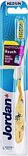 Kup Szczoteczka do zębów z nasadką ochronną, żółta - Jordan Individual Reach Medium Toothbrush
